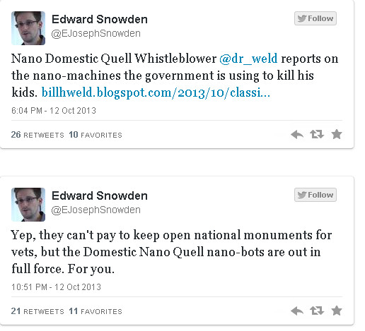 NSA whistle-blower Edward Snowden Tweets About Dr. Bill Weld